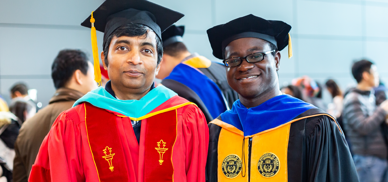 Kahn with Student Ayoade at Doctoral Hooding